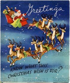 Old Christmas, Christmas Scenes, Vintage Christmas Cards, Retro Christmas, Christmas Images, Christmas Wishes, Xmas Cards, Reindeer Christmas, Christmas Postcards