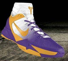 3defa3eb32bd Nike Zoom Kobe VII Lakers Home Purple Gold Kobe Bryant Sneakers