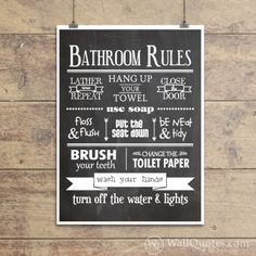 Bathroom Wall Quotes™ Giclée Art Print