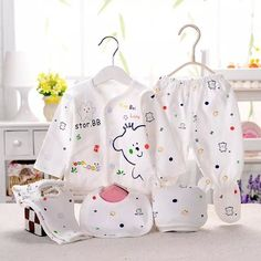 (5pcs/set)Newborn Baby 0-3M Clothing Set Brand Baby Boy/Girl Clothes 100% Cotton Cartoon Underwear