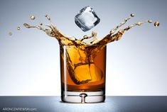 Product photography tutorial: Glass of Whiskey with Splash