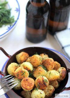 patatas guarnicion de pescado Potato Recipes, Veggie Recipes, Appetizer Recipes, Cooking Recipes, Healthy Recipes, Party Appetizers, Vegetarian Recepies, Food Porn, Vegan Cafe