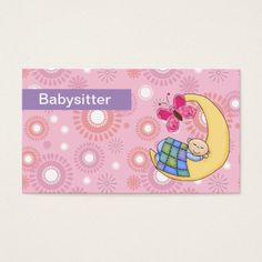160 Best Babysitting Business Cards Images On Pinterest In 2018