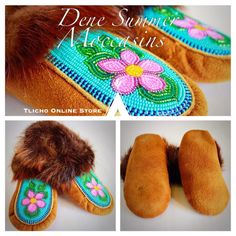Tlicho online shop available -> onlinestore. Native Beading Patterns, Beadwork Designs, Seed Bead Patterns, Native Beadwork, Native American Beadwork, Bead Jewellery, Seed Bead Jewelry, Beaded Moccasins, Shops