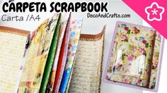 CARPETA SCRAPBOOK O ALBUM DE FOTOS - DecoAndCrafts Mini Albums, Diy, Cover, Pocket, Videos, Youtube, Back To School Supplies, Making Books, Cardboard Furniture