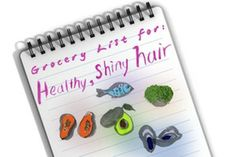 Your Grocery List for Shiny Hair