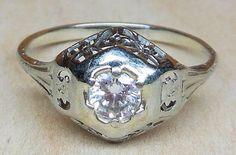 Vintage Antique .25ct Transitional Cut Diamond by DiamondAddiction, $450.00