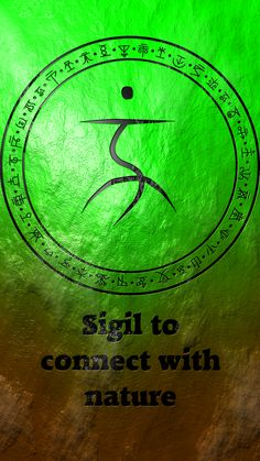 Sigil to connect with nature - Magie Wiccan Symbols, Magic Symbols, Spiritual Symbols, Magick Spells, Witchcraft, Symbole Protection, Sigil Magic, Witch Spell, Book Of Shadows