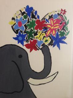 Elefantdrömmar - Akryl på canvas