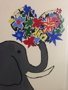 Elefantdrömmar - Akryl på canvas Symbols, Lettering, Icons, Letters, Character, Texting, Calligraphy