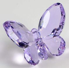 Swarovski Crystal Figurines Butterfly-Violet - Boxed by Swarovski Swarovski Crystal Figurines, Swarovski Crystals, Swarovski Swan, Swarovski Jewelry, Purple Flowers Wallpaper, Cute Jewelry, Unique Jewelry, Magical Jewelry, Glass Figurines