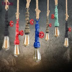 32.11$  Buy now - http://alikgy.shopchina.info/go.php?t=32719292120 - Vintage Industrial Retro Pendant Lamp Personalized Diy Restaurant Bar Industrial Edison E27 Holder Water Pipe Lighting Fixture  #buyininternet