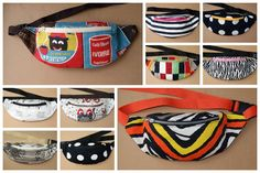 Today I would like to show to you how to sew a fanny pack/waist bag. Contarary to appearances it is not very hard. To execute it you will need: about of fabric, the same amount of heat activated adhesive interfacing, zip, c. Diy Bags Tutorial, Bag Tutorials, Fanny Pack Pattern, Side Bags, Hip Bag, Leather Purses, Purses And Bags, Pouch, Textiles