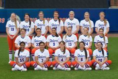 2014 Florida Gator Softball Team... Top middle is my favorite pitcher!! Jackie Trainor