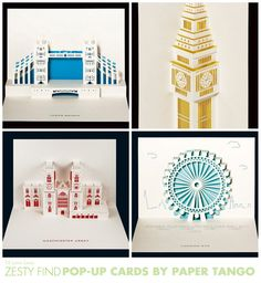 {zesty find} pop-up cards by paper tango by 74 Lime Lane, via Flickr