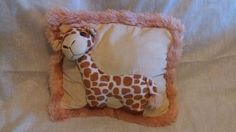 Giraffe Pillow 3 D Baby Child Soft Snuggle Plush Vintage