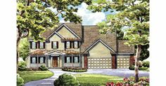 Country House Plan with 2890 Square Feet and 4 Bedrooms(s) from Dream Home Source | House Plan Code DHSW17284