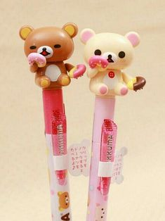 Kawaii stationery that Yui would love Kawaii Pens, Kawaii Cute, Rilakkuma, Cute Pens, Cute Stationary, Cute Office, Kawaii Stationery, Japanese Stationery, Cute School Supplies
