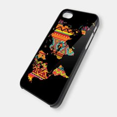 Aztec pattern on world map iPhone 5 Case iPhone 4 by KEIMBOLSTORE, $14.99