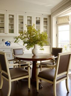 Upper cabinets for china display. contemporary dining room by Martha Angus Inc.