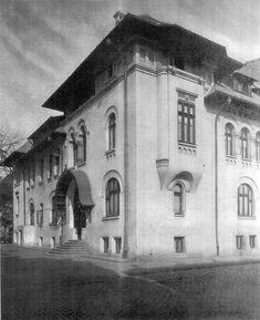 """Casele """"Ion I. C. Brătianu"""" (fațadă clădire A), Biserica Amzei nr. 3-5, București - arh. Petre Antonescu"""