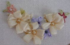 Wonderful Ribbon Embroidery Flowers by Hand Ideas. Enchanting Ribbon Embroidery Flowers by Hand Ideas. Embroidery Designs, Ribbon Embroidery Tutorial, Silk Ribbon Embroidery, Embroidery Patterns, Hand Embroidery, Embroidery Stitches, Rose Patterns, Embroidery Supplies, Letter Patterns