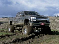 Mudder Lifted Chevy Truck