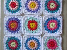 FAYL CRAFT - All Things Handmade: Crochet Sunburst Granny Squares
