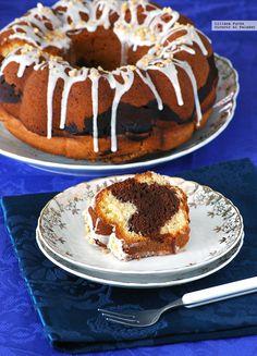 Bundt Cake marmolado de chocolate con mermelada. Receta para el Día Internacional del Bundt Cake