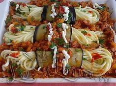 Spaghete impachetate in vinete