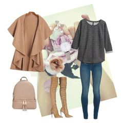 """""""Beige and trendy"""" by nickfashion00 on Polyvore featuring J Brand, H&M, Roberto Cavalli, MICHAEL Michael Kors, FOSSIL and Accessorize #Polyvore"""