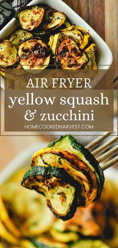 Easy Squash Recipes, Vegan Recipes Easy, Vegetable Recipes, Asian Recipes, Ethnic Recipes, Side Dishes Easy, Side Dish Recipes, Tasty Dishes, Yellow Squash And Zucchini