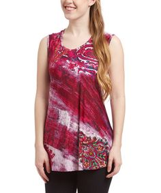 Look at this #zulilyfind! Red Paisley Sleeveless Top by India Boutique #zulilyfinds