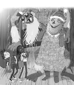 The Creatures at Number 9 - Steve Horrocks #monsters #creatures #funny #humour #childrensbook #adventure #friendship #illustration #kidlitart #stevehorrocks