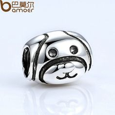 New Silver Color Lovely Dog Pattern European Animal Charms for Bead Bracelet Necklace DIY Accessories PA5293
