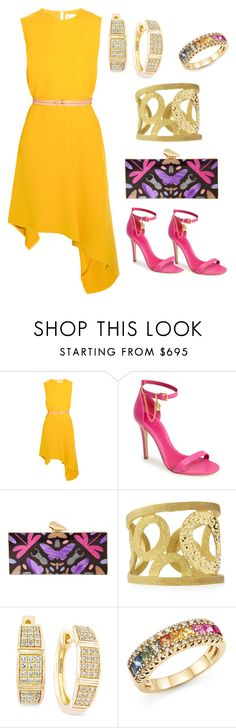 """amarelo"" by rosania-gsrq on Polyvore featuring moda, Victoria Beckham, Alexander McQueen, KOTUR, Roberto Coin, Effy Jewelry e Bloomingdale's"