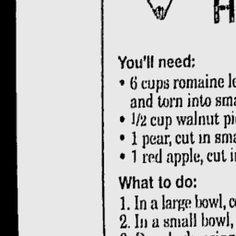 Fall Salad with Honey Dressing - Washington Post Kids' Post
