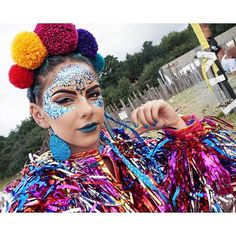 Pom poms, glitter makeup and a tinsel jacket Oh why can't I just wear this ensemble everyday SGP x @rocketdogeurope�