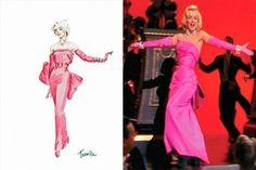 Marilyn's pink dress from Gentlemen Prefer Blondes -- William Travilla