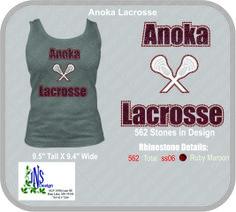 Women's Anoka Lacrosse Rhinestone T-Shirt