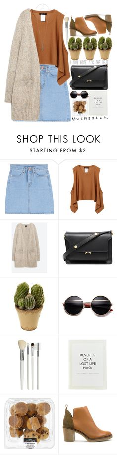 """Welcome to the end of eras."" by paper-faces-on-parade ❤ liked on Polyvore featuring Zara, Marni, Nearly Natural, Cath Kidston, ...Lost, Miista and Forever 21"