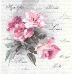 Decoupage Napkins | Floral Napkins |Vintage Roses of Love |Paper Napkins for Decoupage