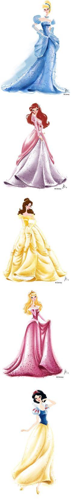 Disney Princess Watercolors by selena