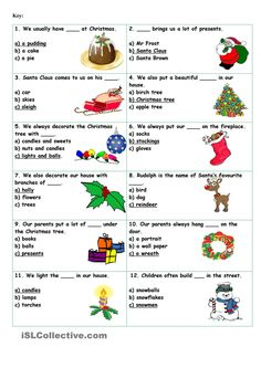 Christmas Vocabulary Quiz