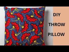 Diy Throw Pillows, Sewing Pillows, Decorative Throw Pillows, Sewing Tutorials, Sewing Projects, Projects To Try, Kaftan Gown, Hi Gorgeous, Diy Headband