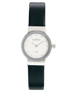 Image 1 of Skagen Klassik Black Leather Strap Watch Skagen, Asos Online Shopping, Latest Fashion Clothes, Women Wear, Black Leather, Watches, Accessories, Jewelry, Black Patent Leather