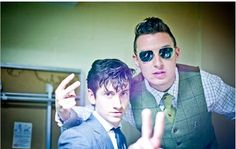 helooksdifferenttoday:    Alex Turner and Matt Helders in Mark Bull's wedding