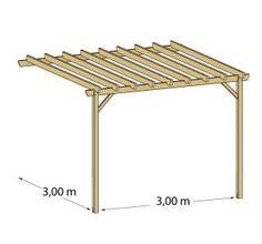 1000 id es sur pergola bois sur pinterest pergola ardoise et terrasse bois for Comconstruction d une pergola en bois