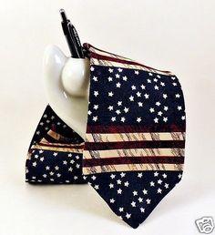 AMERICAN-FLAG-Print-Mens-Silk-Neck-Tie-TANGO-Flowers-of-Liberty-Patriotic