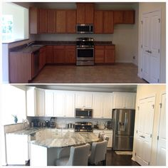 Standard kitchen update before and after 11/2014 Ryan Homes Palermo model Elevation A